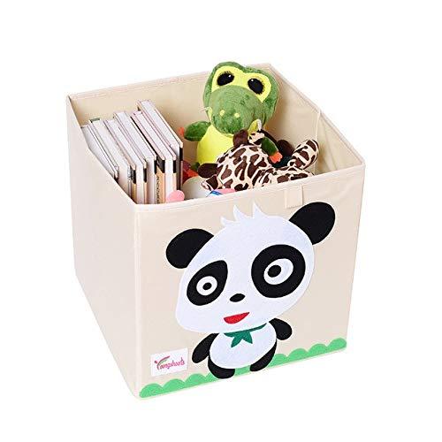 N / A Würfel Kindergarten Kinder Aufbewahrungsbox Cartoon Tier Faltvorratsbehälter Kleiderschrank Schublade Kleidung Korb Kinderspielzeug Veranstalter 33x33x33CM