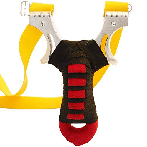 BESTZY Schleuder Zwille Slingshot Katapult Steinschleuder Sportschleuder Jagd Schleuder-Profi aus Edelstahl Sling Shot Spielzeug Jugend Erwachsene (Khaki)