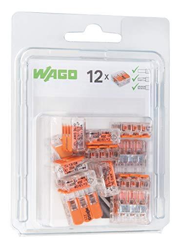 WAGO® Klemme, 3-Leiter, Verbindungsklemme mit Hebel, 221-413/996-012 (12 Stück)