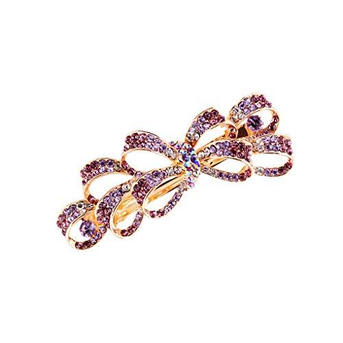 Bowtie femmes Hairpin strass alliage cheveux Épingle Spring Clip Clip Accessoires Filles Accessoire Printemps Barrette clip