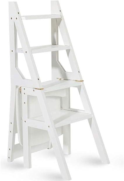 Zfggd Escalera multifunción Taburete Hogar Madera Maciza IKEA ...