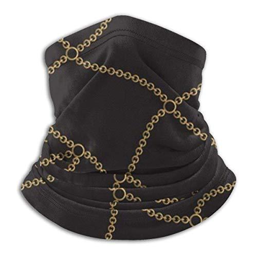LENGDANU Cadena de cadenas de oro negro unisex invierno polar calentador de cuello polainas Hairband tubo frío cara térmica cuello bufanda al aire libre protección UV fiesta cubierta