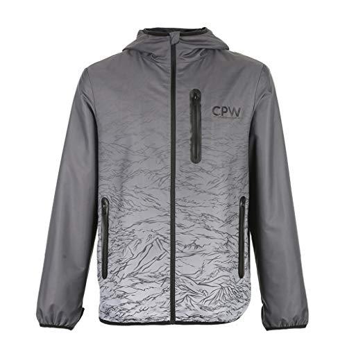 Tops kleding/heren/tops & shirts grijze dunne jas herenjack retro gradient jack casual vrijetijdsjack lange mouwen jack lentejas, lichte jas