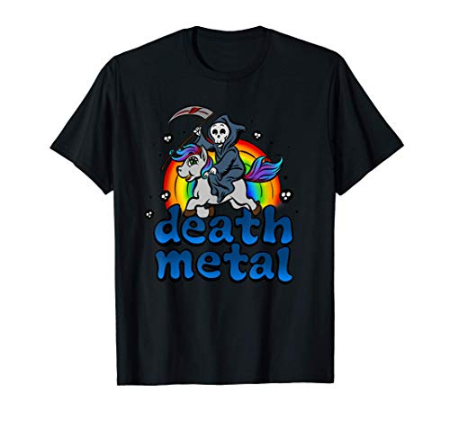 Unicornio mujer fan fashion death metal irony festival Camiseta