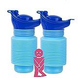 HOOMAGIC 2 Pack Notfall Urinal 750ml Mini Urinflasche Tragbar Faltbar Mobilurinal Wiederverwendbar Universal für Sie und Ihn Auto Reise und Outdoor-Camping