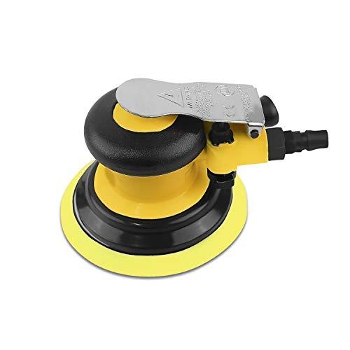 Neues Upgrade Exzenterschleifer Polierer Druckluft 125mm, Leerlaufdrehzahl:13000 RPM,Kleiner und leistungsfähiger Multifunktional Schleifer