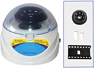 Mini Centrifuge 7,000 RPM with 8-Place Micro Tube Rotor and 16-Place PCR Strip Rotor Laboratory Micro Centrifuge Machine (7,000 RPM)