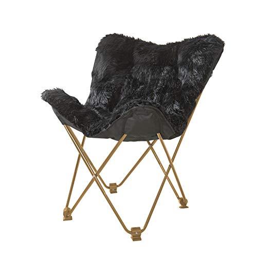 Urban Shop Mongolian Butterfly Chair, Black