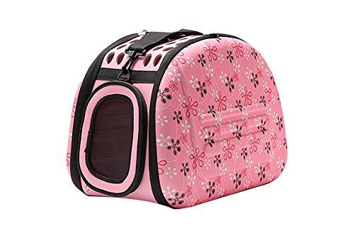 JIAOO_bag Transporttasche Hundebox für Den Transport von Hund & Katze im Flugzeug, Auto Oder in der Bahn mit Weicher Polstereinlage für Eine entspanntere Reise mit Kleintieren (pink)