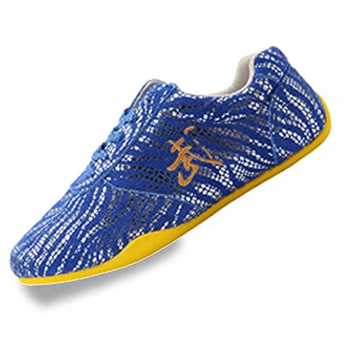 Adulto Zapatos de Tai Chi Artes Marciales,Zapatos Unisex de Kung Fu Taekwondo para Hombres y Mujeres, Otoño Ligera Zapatillas de Entrenamiento Deporte para Boxeo, Karate(Size:35EU/4US,Color:Azul)