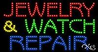 17x 32x 1インチジュエリー&ウォッチ修復アニメーション点滅LEDウィンドウサイン