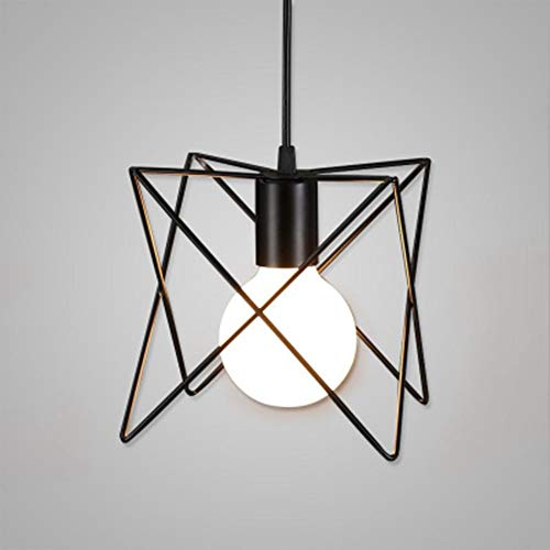 Luz de techo LCSD Lámpara rústica de la luz E26 / E27 de la sombra de la jaula del metal for el dormitorio de la cocina del restaurante