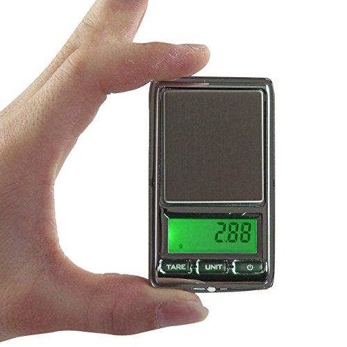Moent Échelle de Bijoux 0,01 g - 500 g Gramme Mini LCD numérique Balance Poids Pocket Bijoux Échelle de Diamant Cuisine , Salle à Manger et Bar