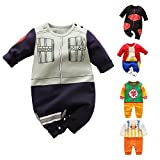 YFYBaby Newborn Baby Boys Girls Anime Romper Cotton Long Sleeve Infant Cosplay Costume Jumpsuit Outfit