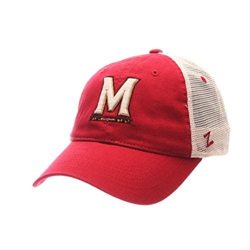 NCAA Zephyr Maryland Terrapins Mens University Relaxed Hat, Adjustable, Team Color/Stone
