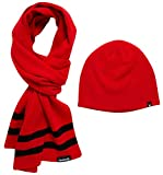 Hurley Men's Winter Hat Set - Beanie and Scarf, Size One Size, Red
