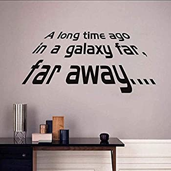 CHENGY Personalized Wall Stickers A Long Time Ago in A Galaxy Far Away Star War Character Words Home Decor Living Room Bedroom Decor Wallpaper Wall Decoration Stickers