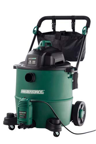 Masterforce 16 Gallon 6.0 Peak HP Wet/Dry Shop Vacuum with Water Pump