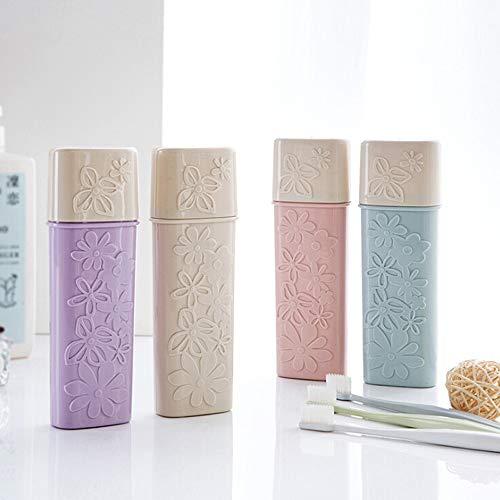 N / A 1pcs Travel Tragbare Zahnbürste Zahnpasta Aufbewahrungshalter Tasse Waschzahnbürste Organizer Badezimmerprodukte Zubehör Aufbewahrungsbox 21x5.5x3CM