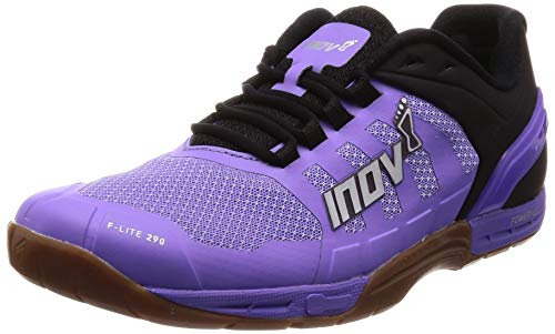 Inov-8 Womens F-Lite 290 - Ultimate Cross Training Shoes - Power Heel - Performance Trainer for Gym and Weight Lifting - Purple/Black 10 W US