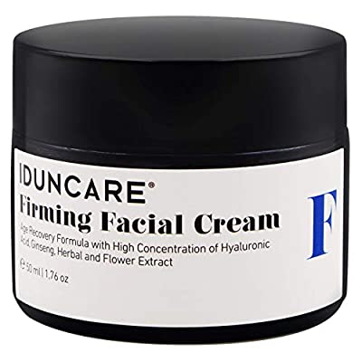 Iduncare Firming Facial Cream - Anti Aging Face Cream with Vitamin C & Hyaluronic Acid - Best Moisturizer for Dry Aging Skin, Wrinkles & Age Spots - 50 ml