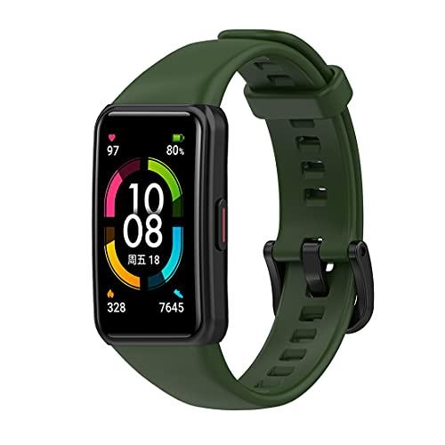 Bexido Correa compatible para Honor Band 6, pulsera deportiva de silicona suave, ajustable, correa de repuesto para Honor Band 6 Fitness Tracker
