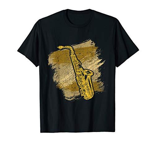 Geschenk für Saxophonspieler Jazz Musik Blasmusiker Saxophon T-Shirt