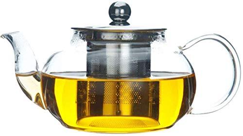 Tetera Tetera de Hierro Fundido Tetera de Vidrio Transparente de 600 ml con infusor y Tapa de Acero Inoxidable Teteras de Vidrio de borosilicato Accesorios para té