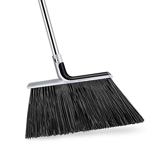 KeFanta Outdoor/Indoor Heavy-Duty Broom with 58 inch Adjustable Broomstick, Angle Brooms Perfect for Home Kitchen Room Office Courtyard Garage Lobby Mall Market Floor Pet Hair Sweeping