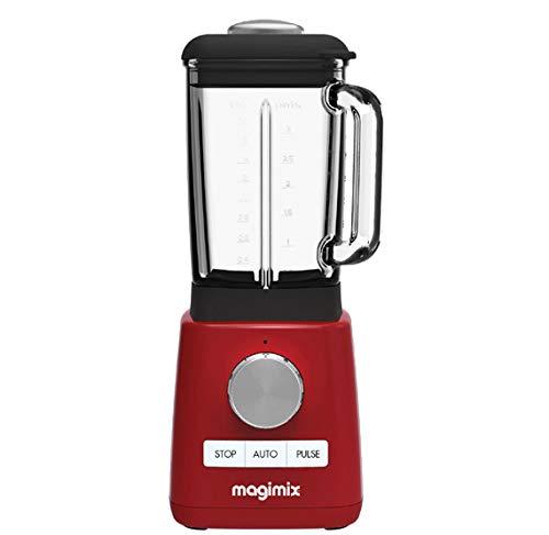 Magimix 11623 - Licuadora (1,8 L, 600 RPM, 15000 RPM, 1,8 L, Batidora de vaso, Rojo)
