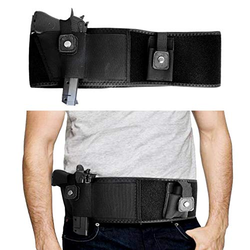 N \ A Ultimate Belly Band Gun Holster for Concealed Carry, Compatible with Smith and Wesson, Shield, Glock 19, 17, 42, 43, P238, Ruger LCP, and Similar Guns, Unisex
