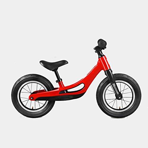 UNU_YAN Kinder Gleichgewicht Fahrrad-Roller, 1-3-6 Jahre alt Scooter Kinder Nein-Pedal Bike Anfänger, verstellbare Sitze, No-Pedal Walking Training Bike (Color : Red)