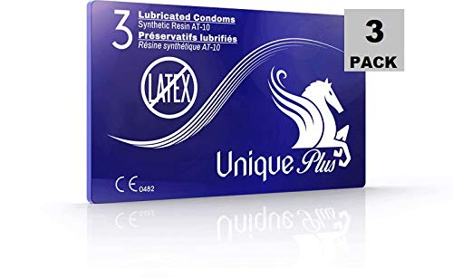 Unique Plus Synthetic Resin Latex Free Thin Condoms 9 PC