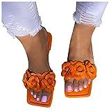 Padaleks Womens Soft Leather Sandals Comfortable Flat Slides Comfortable Flip Flops Outdoor Beach Walking Shoes