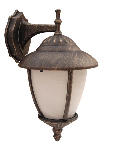 Madrid buitenwandlamp lichtladen klassiek metaal/glas antiek goud/albast glas buitenlamp wandlamp E27 60W