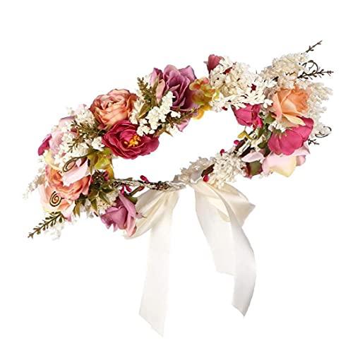 Venda de la flor de la guirnalda floral pelo Garland Celada con goma para el Festival de novia de la boda accesorios para el cabello Novia Accesorios pelo de la boda