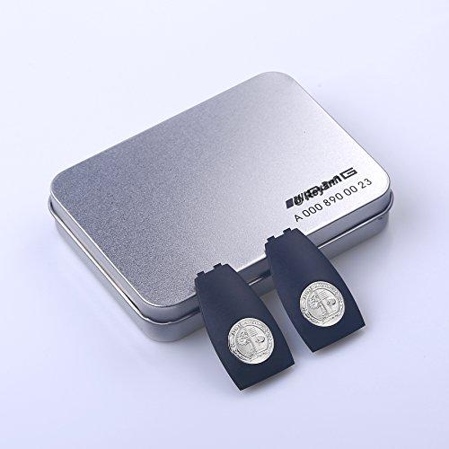 Reyann 2 Pcs Metallabzeichen-Schlüssel-Abdeckung für Mercedes-Benz AMG W204 W205 W207 W166 W218 W212 W221 W222 Teilenummer A0008900023