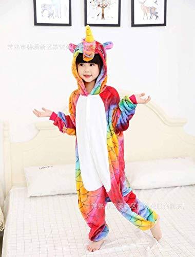 Unisex pyjama volwassen dier Onesies flanel kinderen Cartoon dier samengevoegde pyjama vrouw blauw poeder regenboog Jumpsuit, JUSTTIME 140# Fish Scales