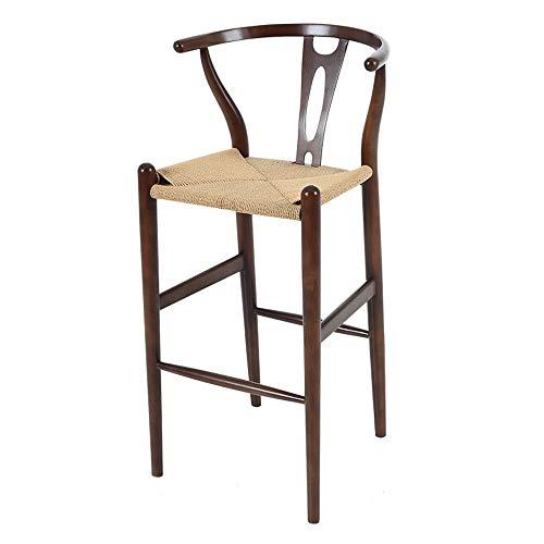 Barstoel van massief hout, mooi, robuust, café, bistro, restaurant, barkruk (afmetingen: 51 x 53 x 102 cm, zithoogte: 73 cm) 01-17 C
