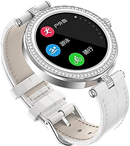 ZXCVBNN Ladies Smart Watch, Pantalla IPS de 1.09 Pulgadas, recordatorio del Ciclo Menstrual Femenino, múltiples Modos de Deportes (Color: Oro Rosa)