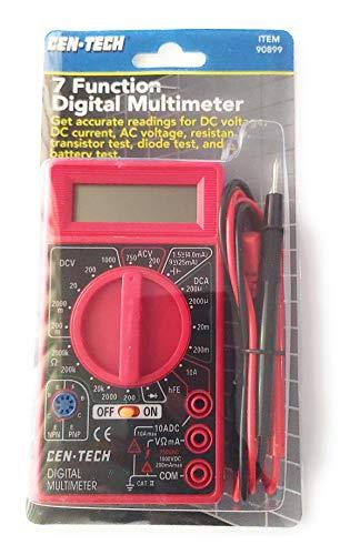 Cen-Tech Digital Amp Ohm Volt Meter Ac Dc Voltmeter...