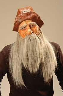 Máscara de viejo rockero con una barba gris