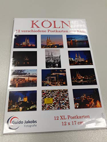 Postkarten Set Köln - 12 verschiedene Karten (Kölner Dom auf Postkarte - Postkartenset Postkartensammlung Ansichtskarte) 14906