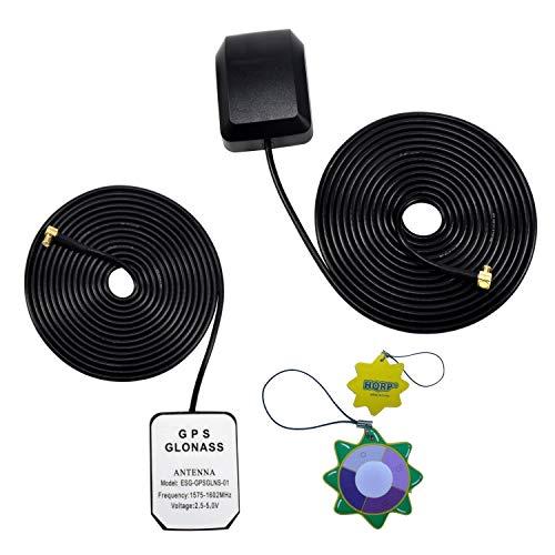 HQRP Antena externa GPS amplificada 1575.42 MHz de montaje magnético para ATTI Shadow Tracker J2 (J2) / ATTI Shadow Tracker 2000 (2000) / ATTI Shadow Tracker Premier + HQRP medidor del sol