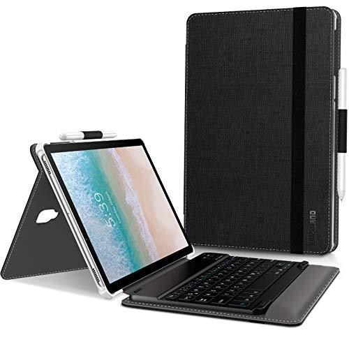 Infiland Samsung Galaxy Tab S4 10.5 Tastatur Hülle, Ultradünn leicht Ständer Schutzhülle mit magnetisch abnehmbar Tastatur für Galaxy Tab S4 10.5 Zoll (SM-T830/T835) 2018 (QWERTZ Tastatur,Schwarz)