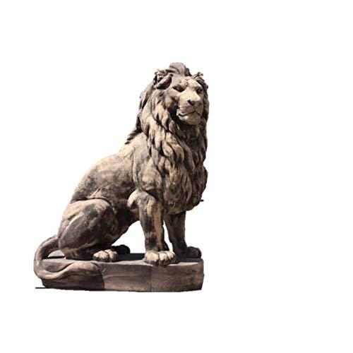 Lebensgroßer Löwe als Steinfigur XXL