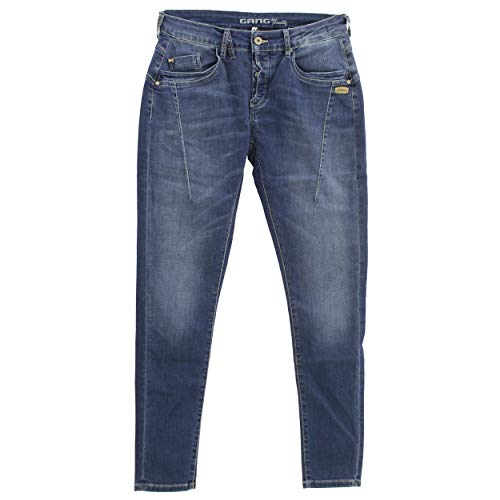 Gang, Georgina Deep Crotch, Damen Damen Jeans Hose Stretchdenim Blue Used W25 [22498]