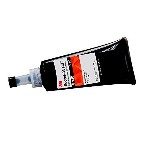 3M Scotch-Weld 62652 High Temperature Gasket Maker GM10, 50 mL, Red, 1.69 fl. oz.
