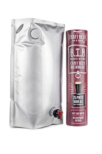 Muntons Craft Beer in a Bag Beer Making Kit   Craft Beer Brewing Kits for Home Brew   Dark Ale – Beer Kit with No Equipment Needed, Just Add Water, 25 Pints Brewed and Ready to Drink in 30 Days