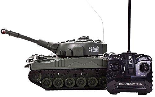 Hochwertiger Panzer mit Fernsteuerung (Dunkelgrün) Geniale Sound- und Lichteffekte - HighTech RC Spielzeug mit Fernbedienung ohne Schussfunktion ferngesteuert